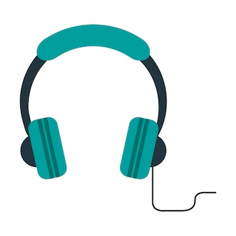 Music headphones device symbol