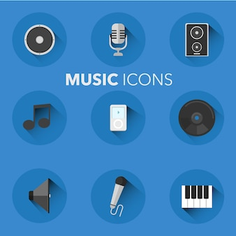 Music icons collection