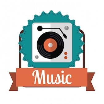 Музыкальный дизайн иконок