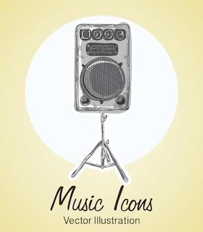 음악 아이콘 (악기 개체 및 요소)
