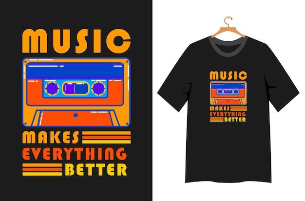 음악 일러스트 관련 티셔츠 디자인
