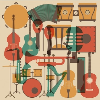 Music instruments collection