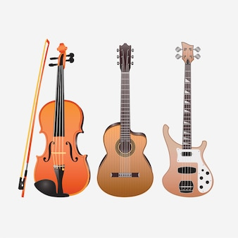 Music instruments guitars violin acoustic