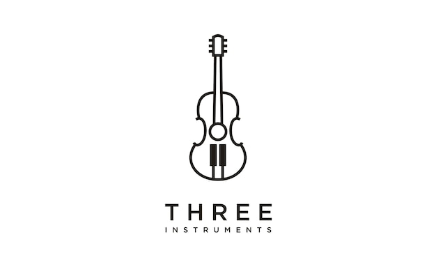 Music instruments logo design