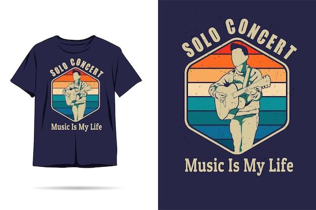 音楽は私の人生のシルエットのtシャツのデザインです