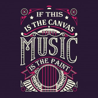 Music is the paint