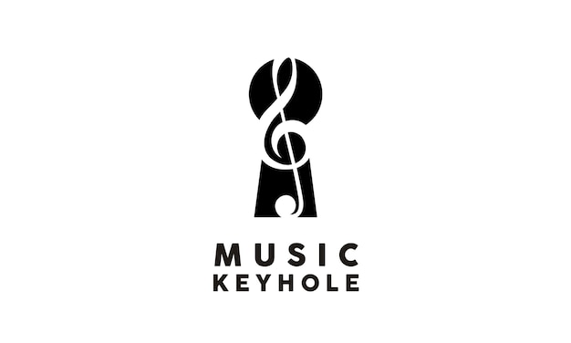 Music and keyhole logo design