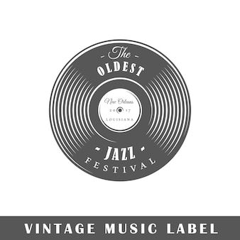 Music label isolated on white background