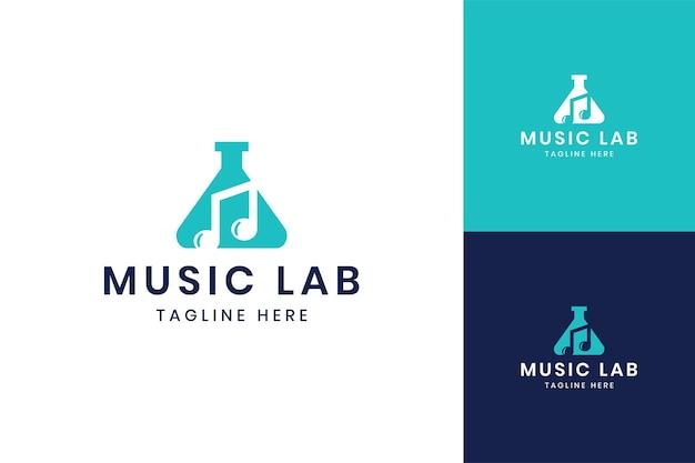 Music laboratory negative space logo design