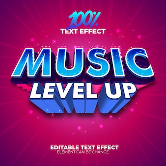 Music level up text effect