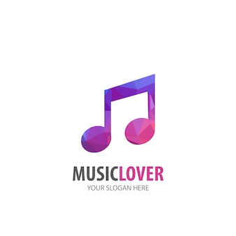 Music logo for business company. simple music logotype idea design. corporate identity concept. creative music icon from accessories collection.