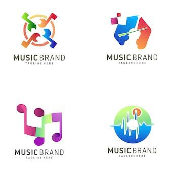 Music logo design and icon