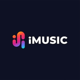 Music logo design template