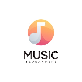 Music logo illustration colorful abstract