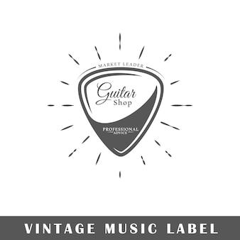 白い背景で隔離の音楽ロゴ。ロゴのテンプレート。