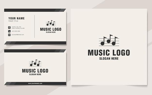 Музыкальный шаблон логотипа в стиле монограммы