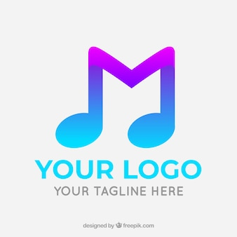 Music logo with gradient style