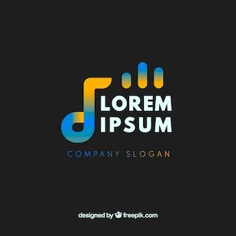 グラデーションスタイルの音楽ロゴ