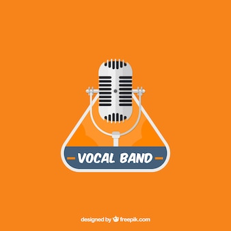 Music logo with microphone