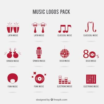 Музыка логотипы пакет