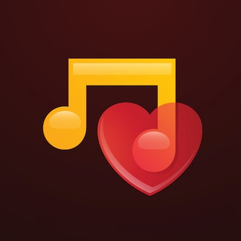 Логотип любителя музыки