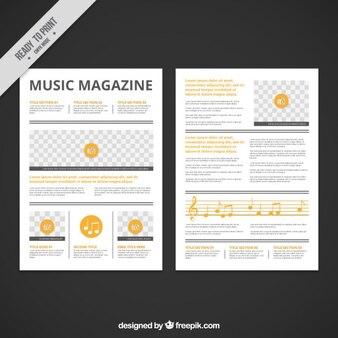 黄色の詳細と音楽雑誌