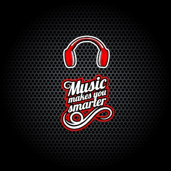 Music makes you smarter, words with headphones,
