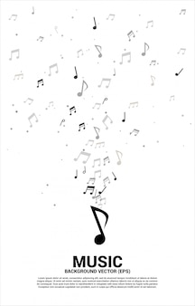 Music melody note dancing flow.