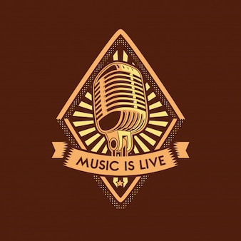 Music microphone illustration