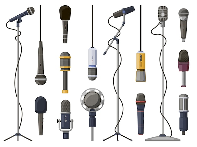 Music microphones. studio sound, broadcast, or music record equipment, music record technology