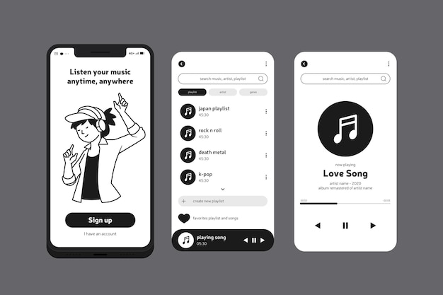 Music mobile phone app