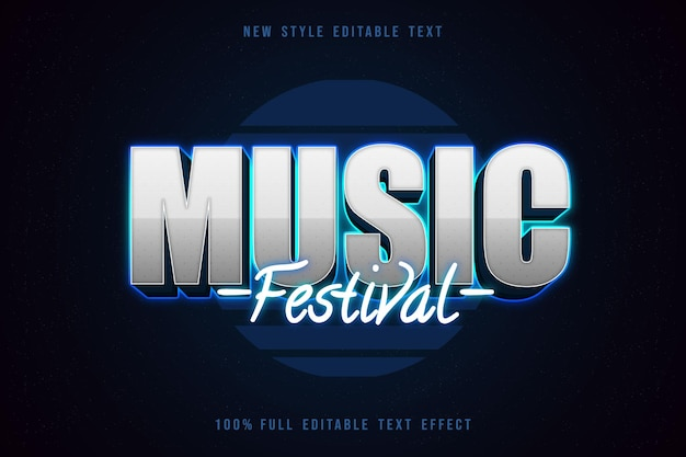 Music music editable text effect neon style