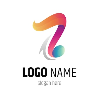 Music note colorful gradient logo