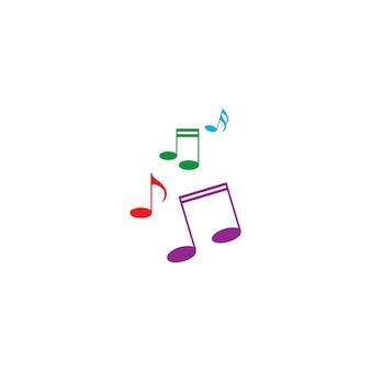 Музыка примечание значок векторные иллюстрации дизайн