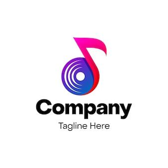 Music note logo design