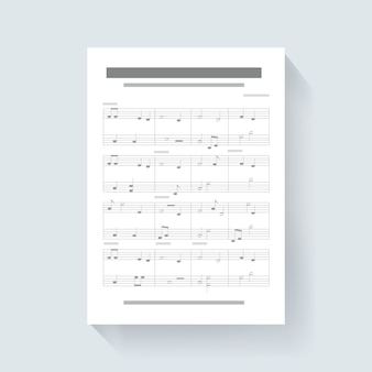 Music note sheet compose song icon illustration vector