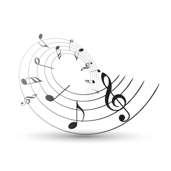 음악 공책.
