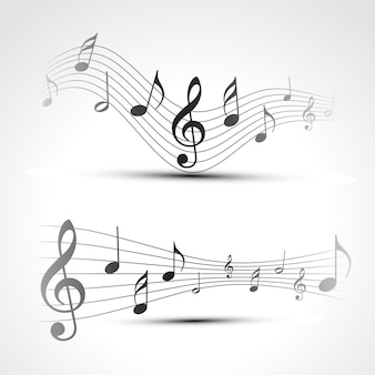 Music notes design