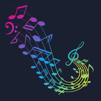 音楽の背景の音楽ノート