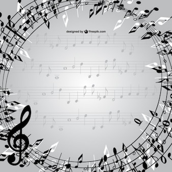 Music notes frame vector