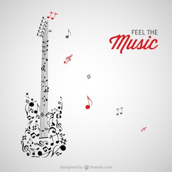 Music notes guitar