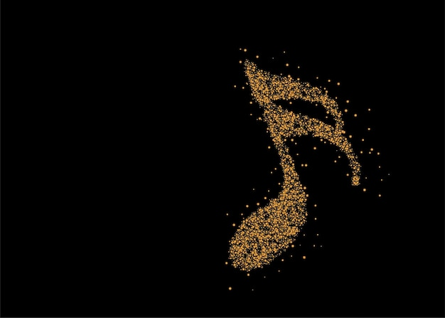 Music notes particle design icon, vector illustration