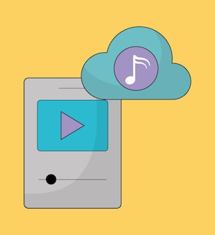 Music online represented by play