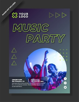 Music party flyer and social media post
