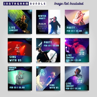 Music party instagram story template