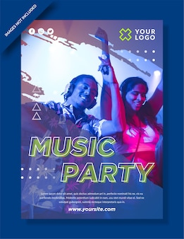 Music party poster and social media post