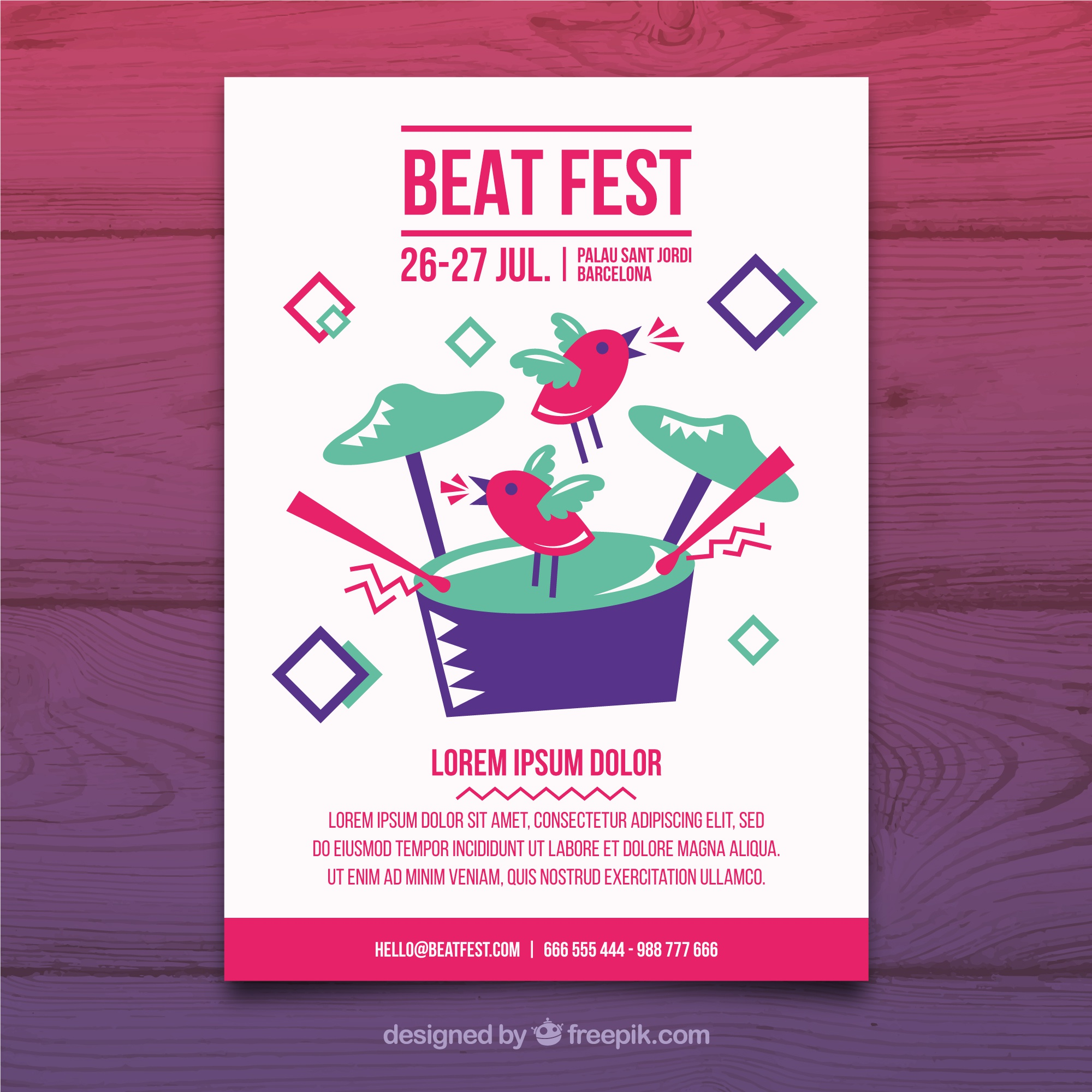 Music party poster template