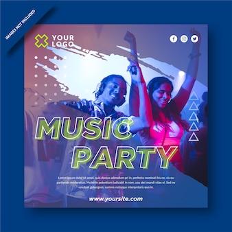 Music party  social media post  design