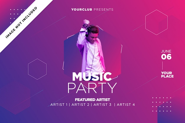 Music party  template
