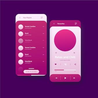Концепция интерфейса приложения музыкального проигрывателя